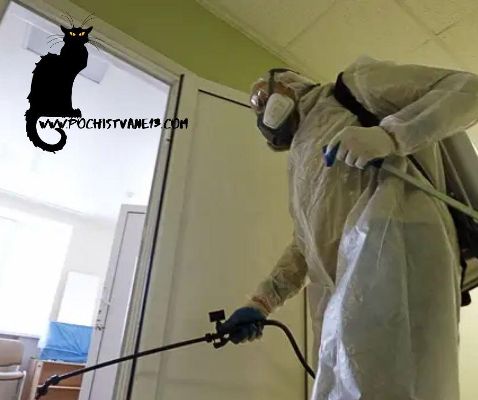 Дезинфекция на помещения, антивирусна и антибактериална обработка.